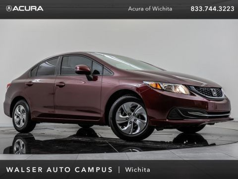 Pre-Owned 2013 Honda Civic Sdn LX PZEV, Rear View Camera, Bluetooth,